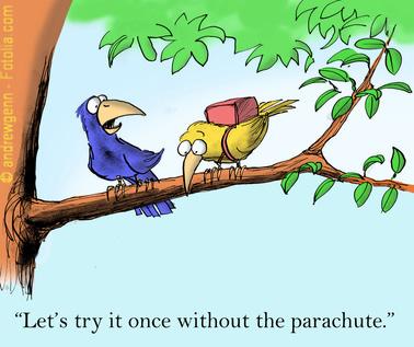"""""""Lass es uns mal ohne Fallschirm versuchen"""" - Ein Coach soll ermutigen und setzt sich mit den Bedürfnissen des Ratsuchenden auseinander"""