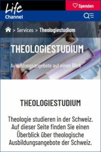 Theologie Studieren - Ausbildungsangebot Schweiz